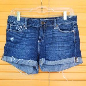 Paige | Medium Wash Jean Shorts w/ Rolled Cuffs